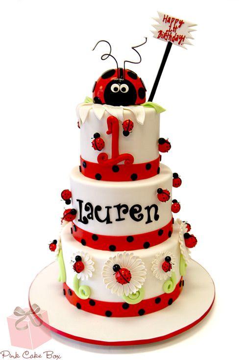 Phenomenal Ladybug Themed Birthday Cake Ladybird Birthday Cakes Ladybug Funny Birthday Cards Online Kookostrdamsfinfo
