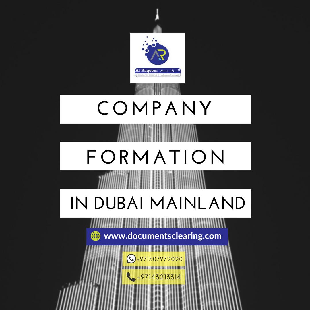 We provide company formation in Dubai Mainland  📞📱Whatsapp/call: +