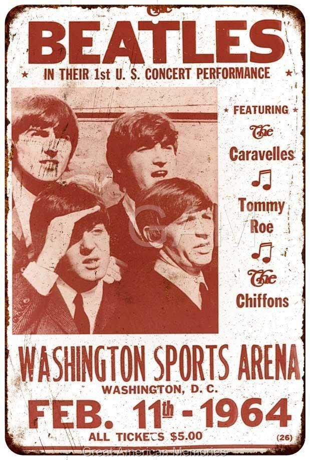 Metal Sign Vintage Look Reproduction 2 1966 Beatles at Candlestick Park