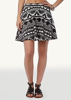 Paisley Smocked Waist Skirt | Mini | rue21
