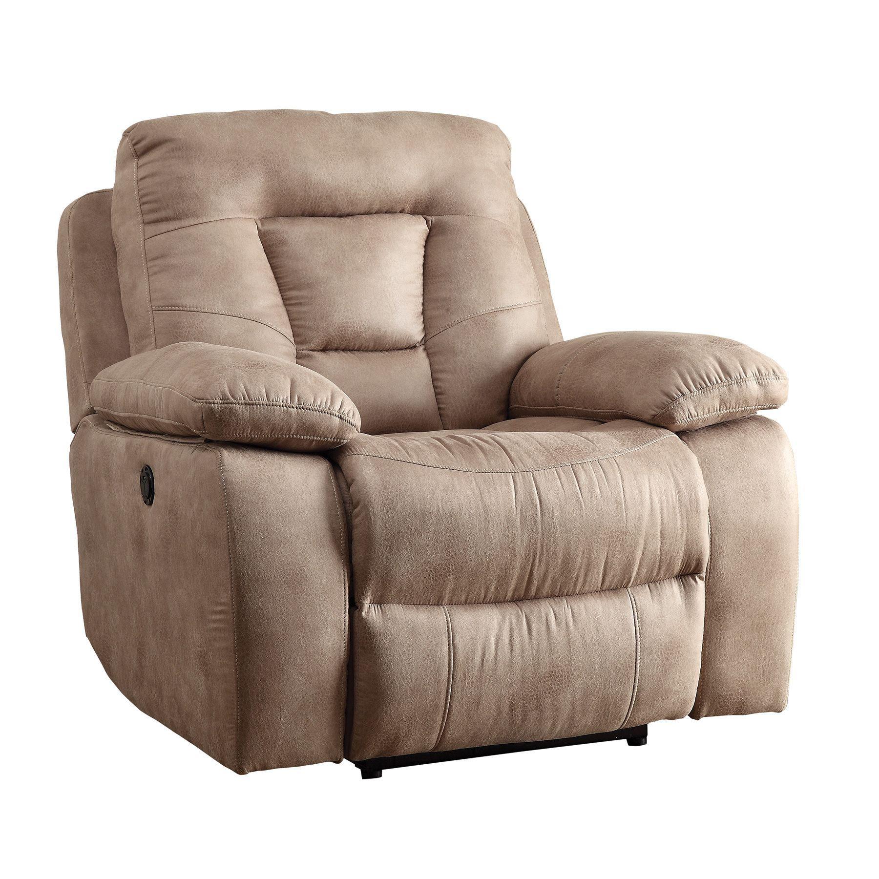Coaster Overstuffed Glider Recliner Chair