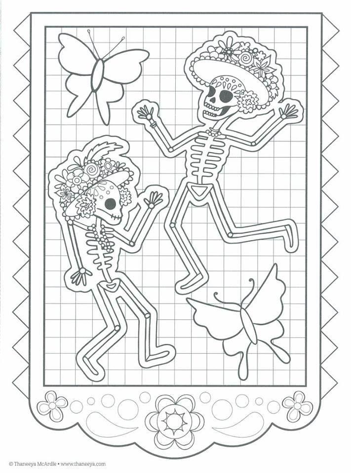 Dibujos para colorear el día de los muertos (11 | Marcus | Pinterest ...