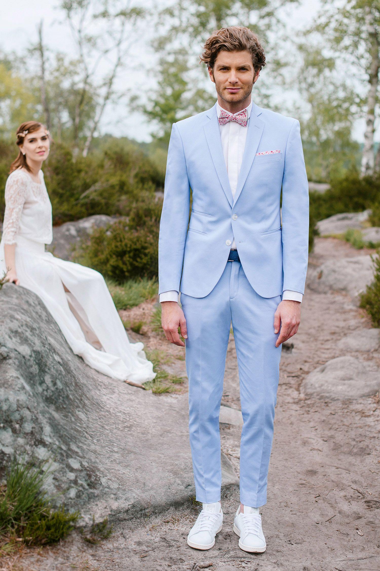 Costume sur mesure en gabardine de coton ciel mariage pinterest costumes sur mesure sur - Tenue homme mariage champetre ...