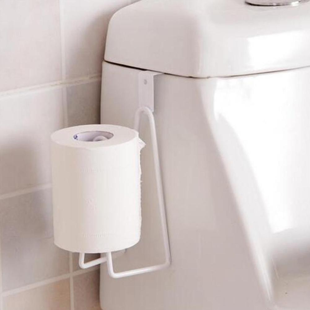 Photo of Durable Bathroom Toilet Paper Holder Tissue Towel Shelf Kitchen Rack Hanger – White