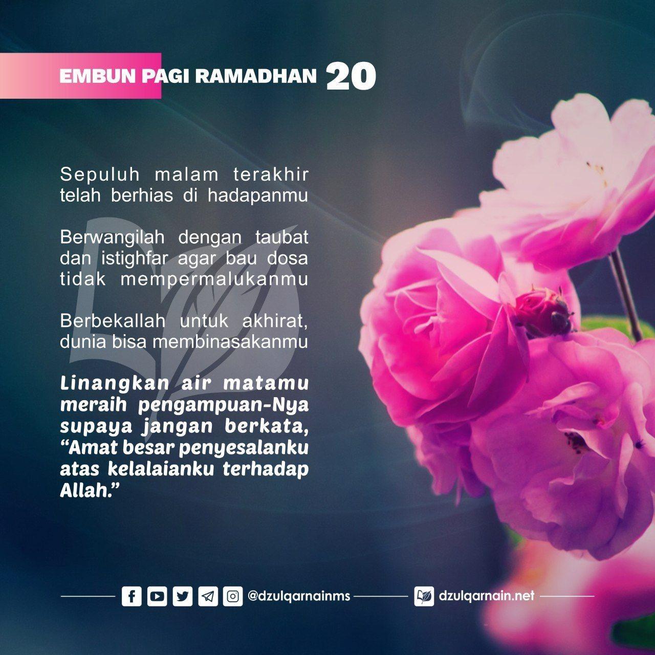 20 Romadhon 1440 Embun Pagi Allah Motivasi Belajar
