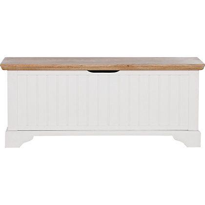 White Oak Bed End Storage Blanket Box Schreiber At
