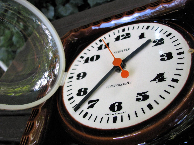 Küchenuhr Retro ~ Vintage fat lava uhr küchenuhr u kienzle chronoquartz germany
