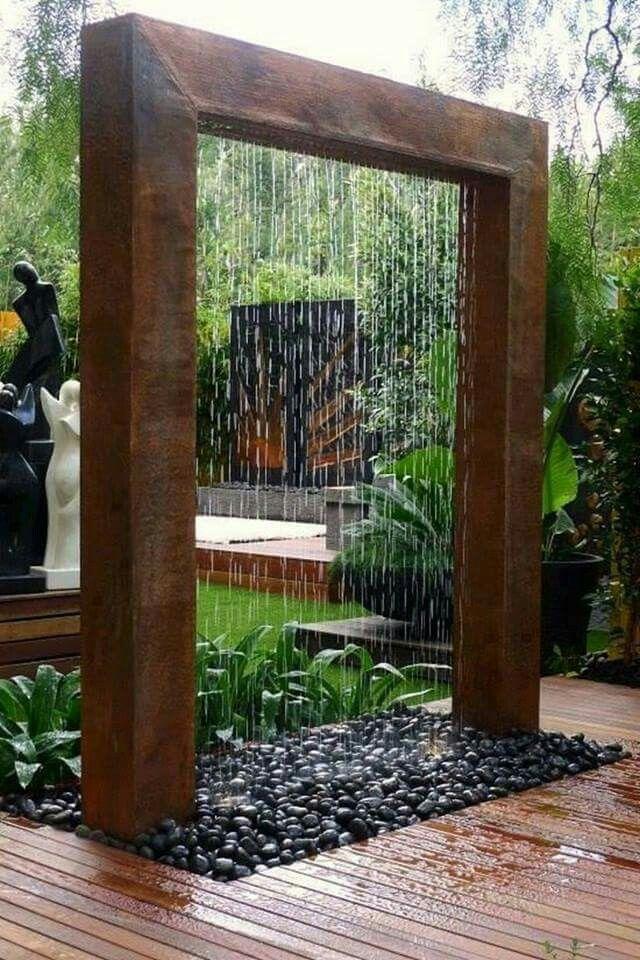Rain Curtain Water Fountains Outdoor Diy Water Fountain