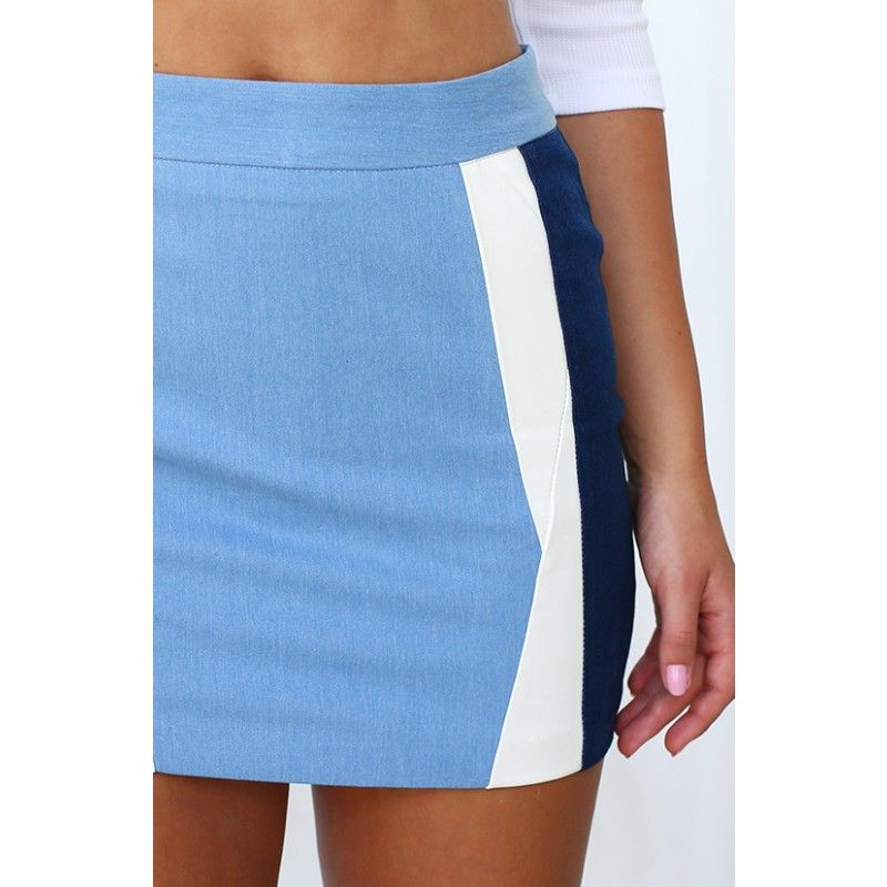 Style Keepers Blue Moon Denim Skirt $59