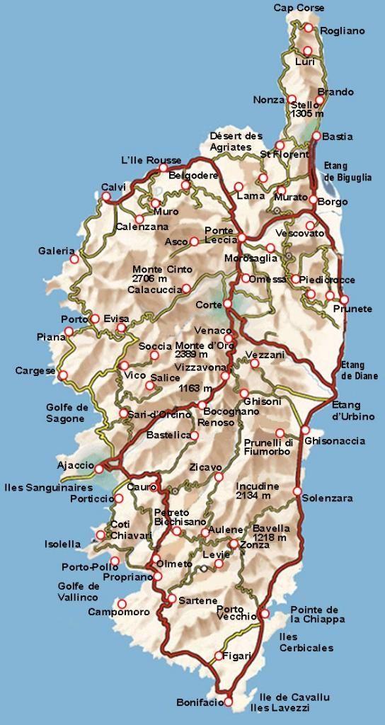 Epingle Par Christine Demaretz Sur Corse En 2020 Corse Carte Corse Carte