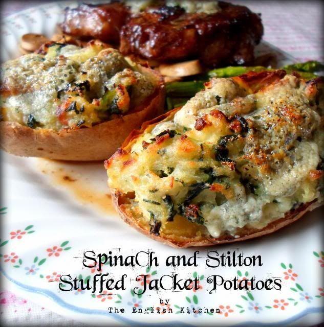 The english kitchen stilton and steaks a splendid combination spinach and stilton stuffed jacket potatoes forumfinder Choice Image