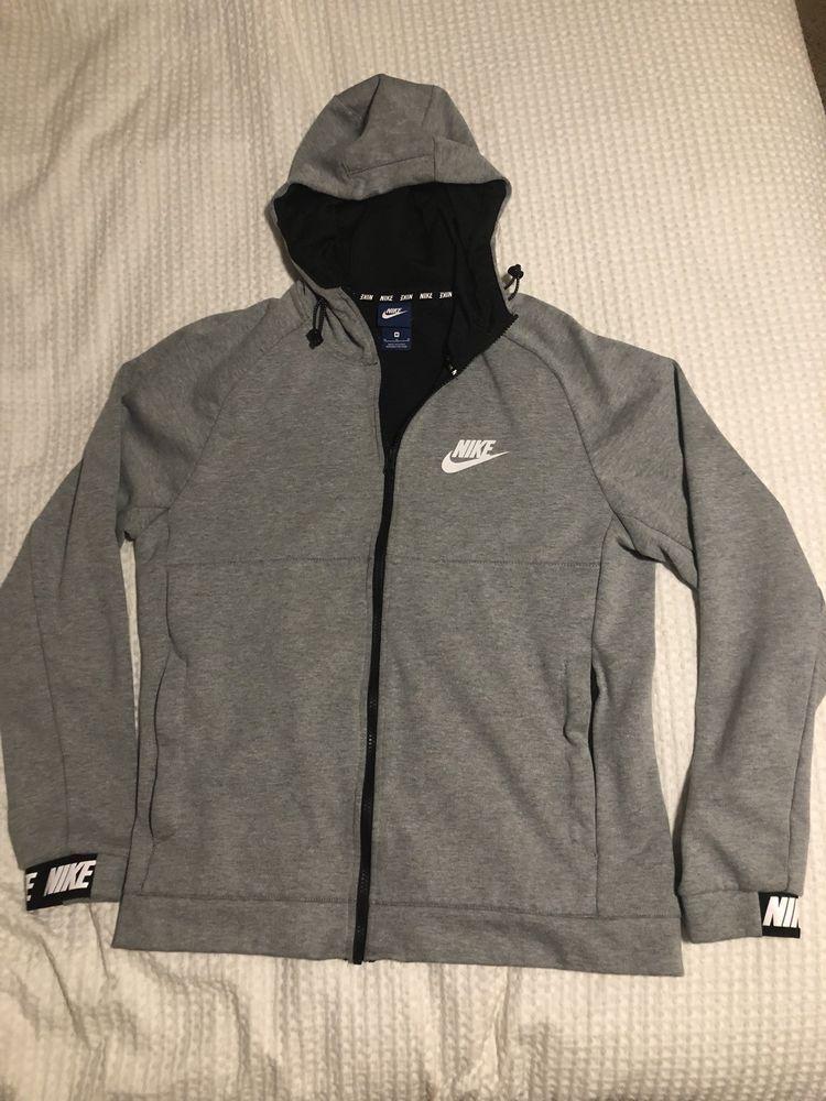 8f2c014b61f Mens Nike Grey Full Zip Hoodie Medium  fashion  clothing  shoes  accessories
