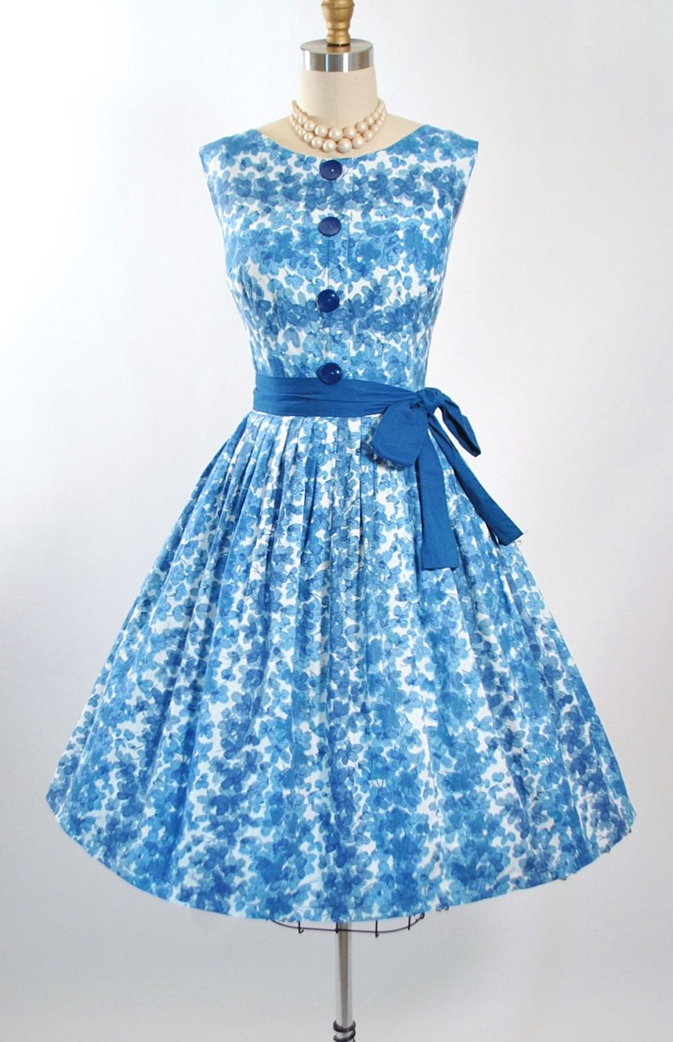 ♢ Vintage 1950s Garden Party Sundress by Mode O Day. ♢ Constructed ...