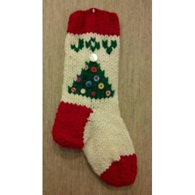 Easy Bulky Christmas Stocking Knitting pattern by ...