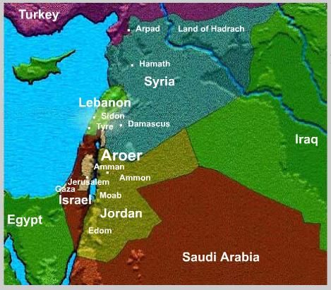 Animated map - the doom of Syria and her allies End Times News - animated maps