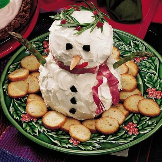 Appetizers: Make-Ahead Snowman Cheese Ball Recipe