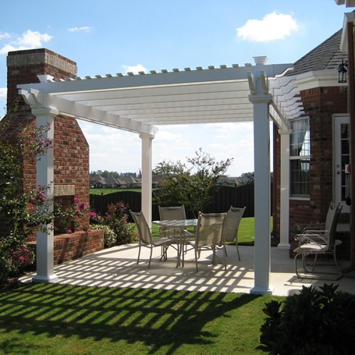 Freestanding Vinyl Pergola with 8