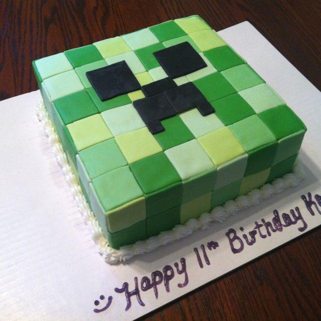 5e6080e3a5d128518c2c4640c06ed255 Jpg 640 640 Pixels Minecraft Birthday Cake Minecraft Cake Creeper Cake