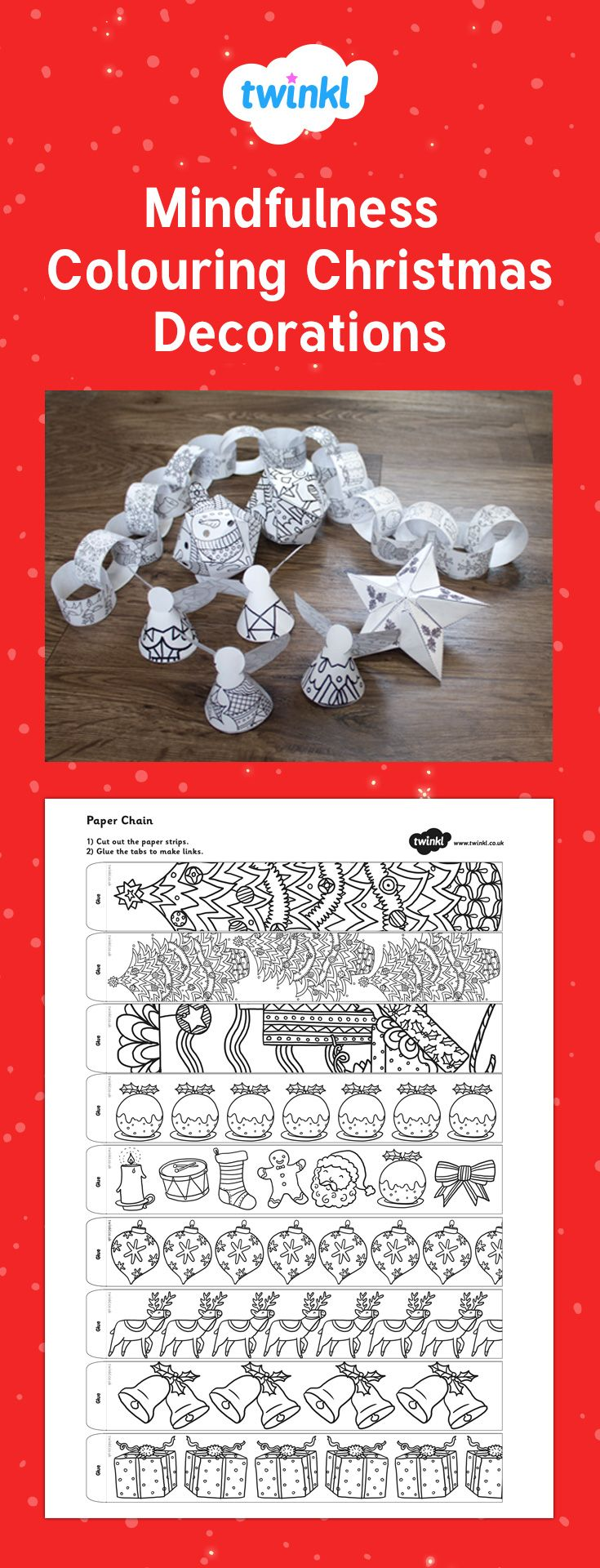 Mindfulness Colouring Christmas Decorations Christmas Coloring Books Christmas Coloring Pages Childrens Christmas Crafts