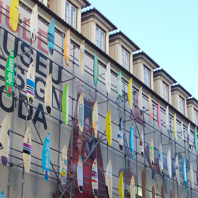 https://flic.kr/p/HdYEcu | pranchas de surf como elemento de fachada | museu do design, lisboa