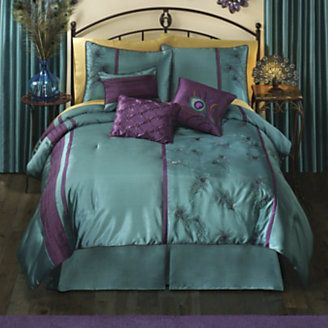 Thanks Deb Kirkendall For Pinning Our Peacock Comforter