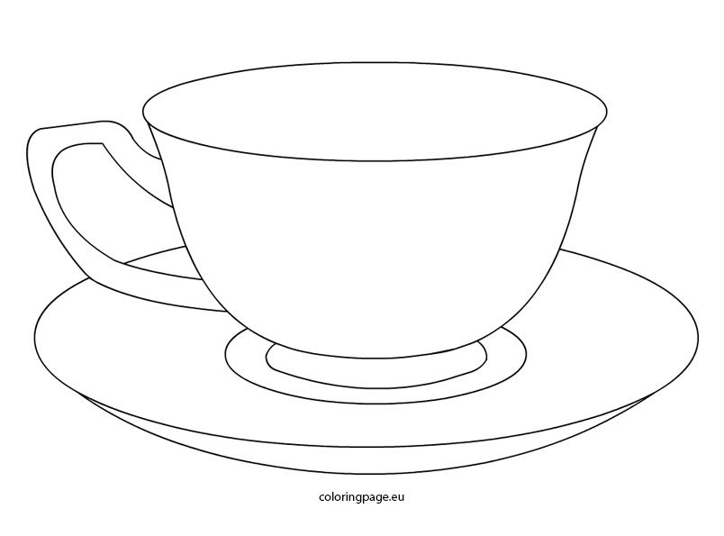Tea Cup Coloring Pages Printable Tats Please Tea Cup Drawing