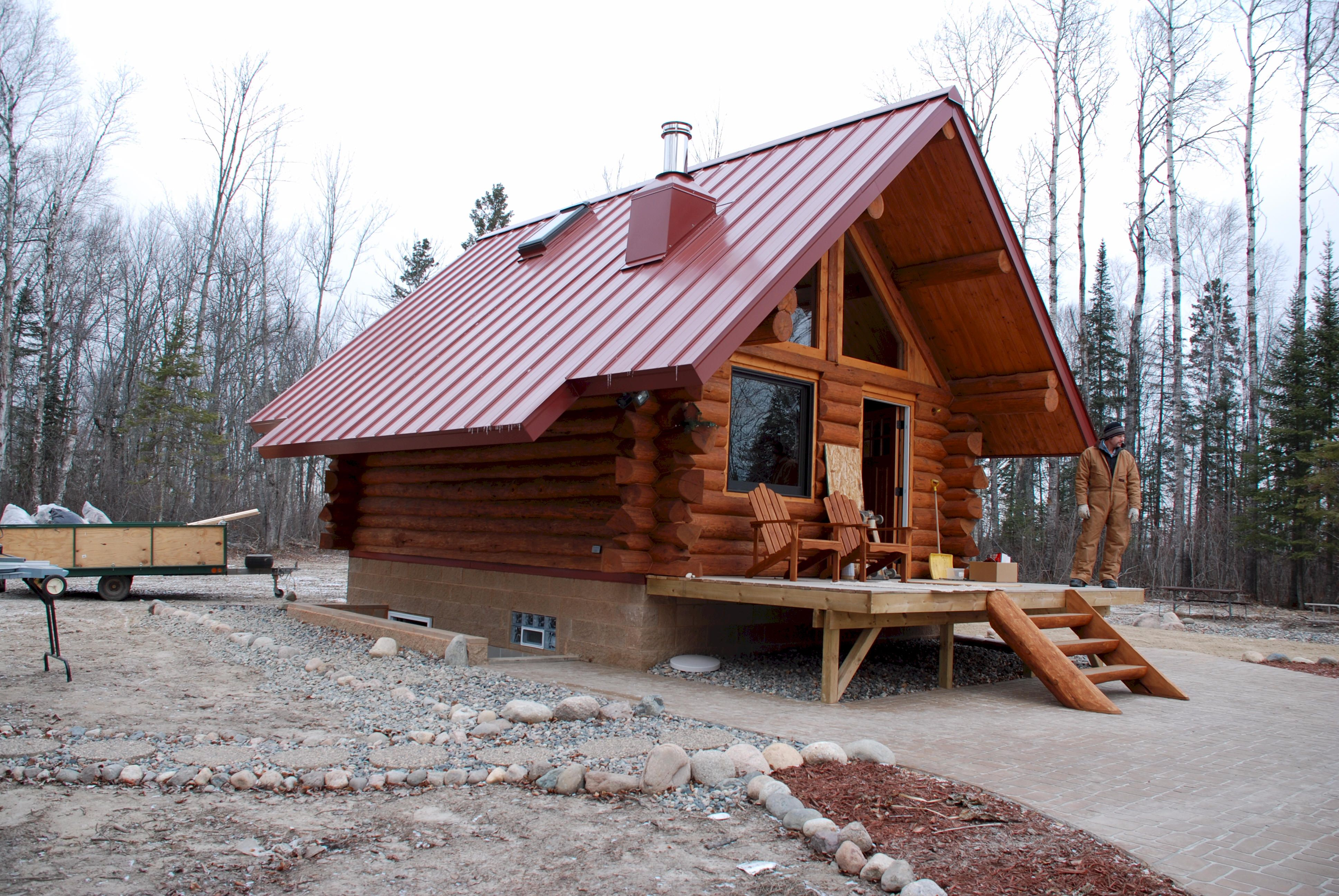 cabins a homes for in setting cabin minnesota walker great exterior sale near log mn