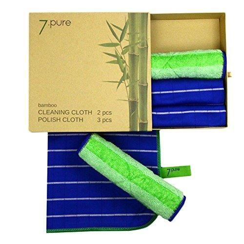 Oferta: 24.95€. Comprar Ofertas de Conjunto de bambú 7.PURE   2 x bayetas y 3 x trapos para sacar brillo   Limpieza sin limpiadores – antibacteriano – sin pelus barato. ¡Mira las ofertas!
