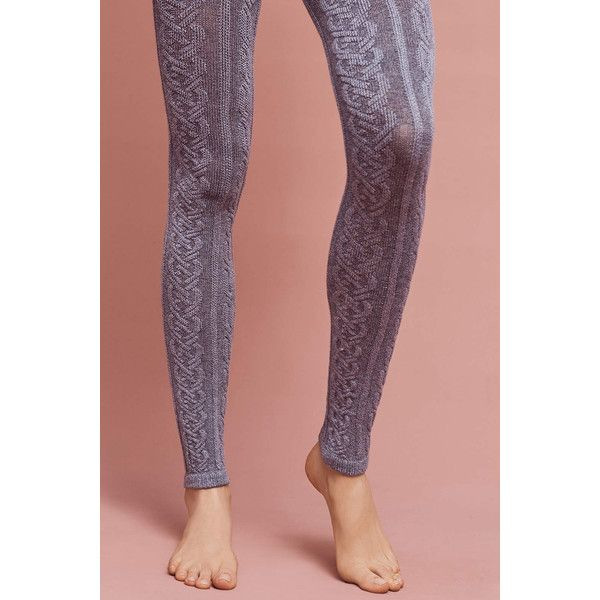 Lemon Cabled Footless Tights ($38) ❤ liked on Polyvore featuring intimates, hosiery, tights, dark grey, cable knit stockings, footless stockings, footless tights, footless hosiery and cable tights