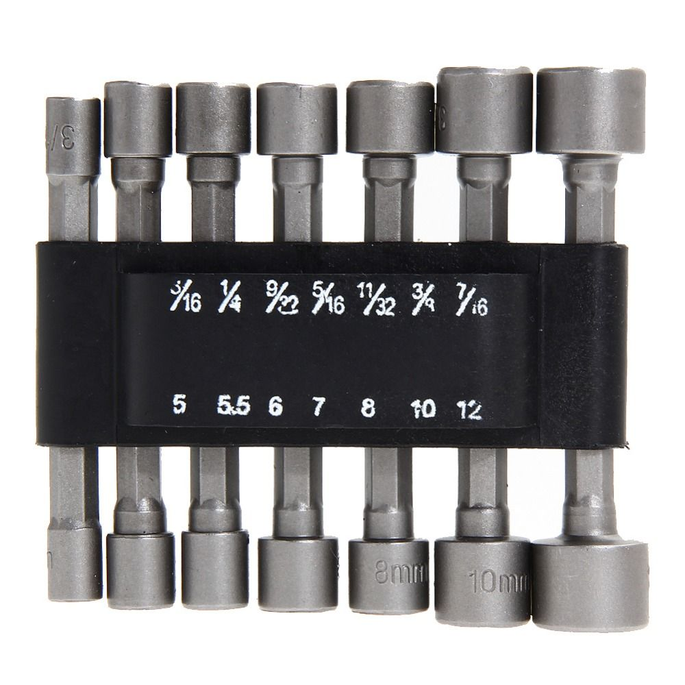 14pcs Set Adapter Hex Power Tools Without Magnetic Hex Socket Sleeve Nozzles Magnetic Nut Driver Set Drill Bit 14pcs Adapter Powe Drill Bits Socket Wrenches