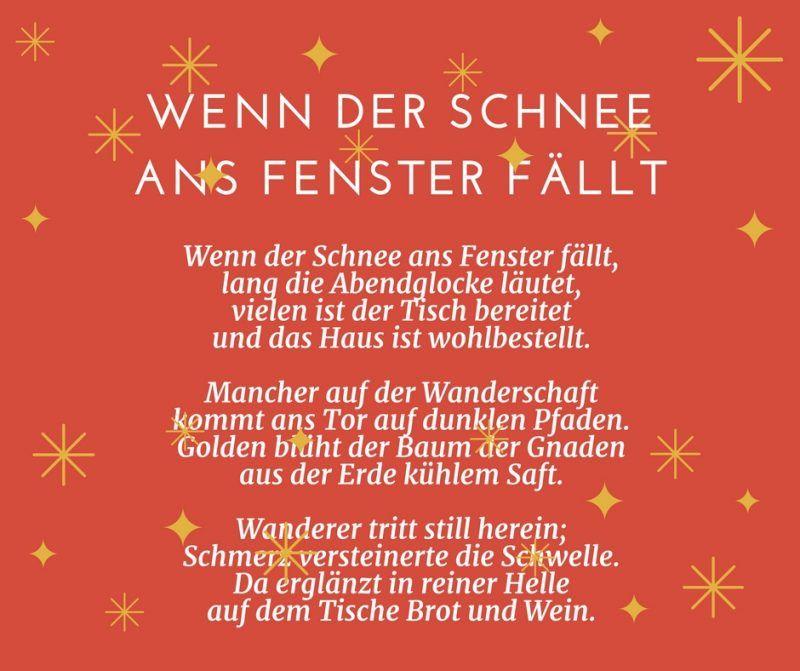 25 Gedichte Fur Weihnachten Fur Gross Und Klein Weihnachtsgedicht Frohe Tute Geburtstag Spr Gedicht Weihnachten Gedicht Weihnachten Kurz Weihnachtsgedichte