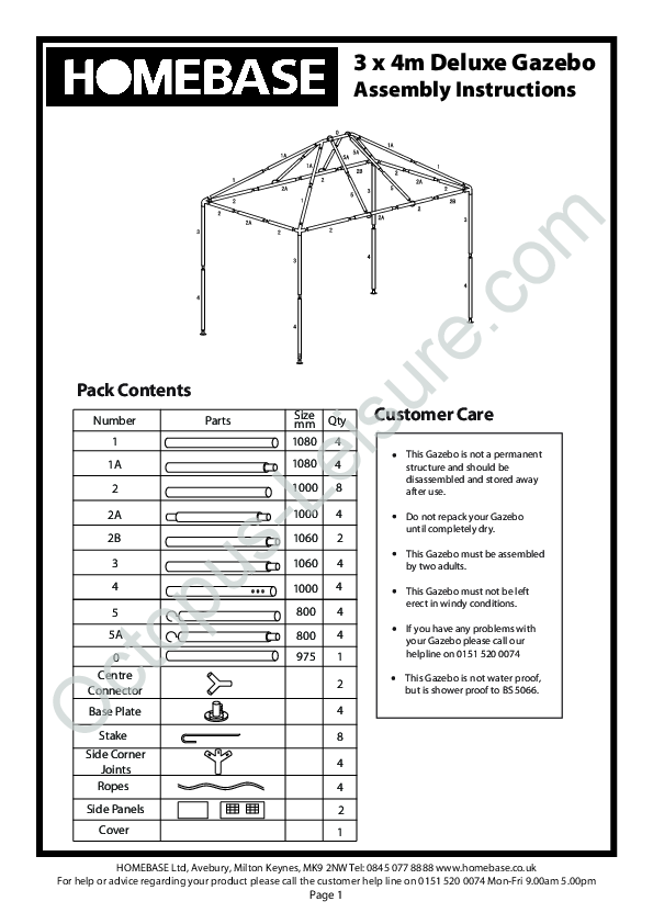 homebase party gazebo instructions