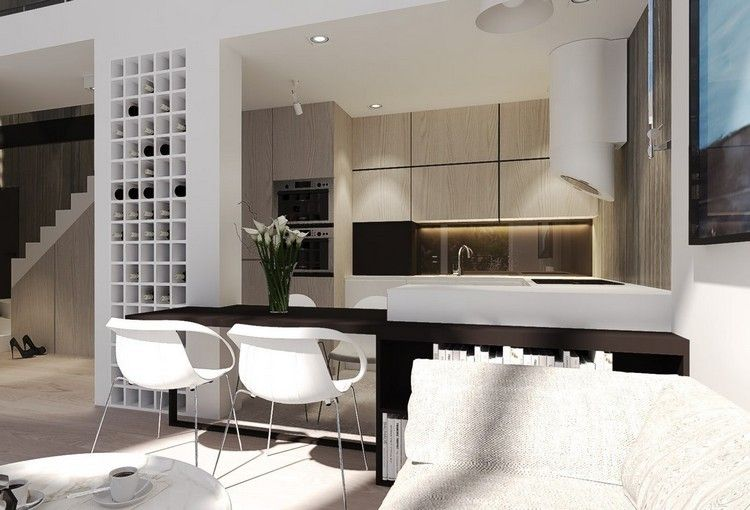 diseño cocina madera colores neutros | Interiores para cocina ...
