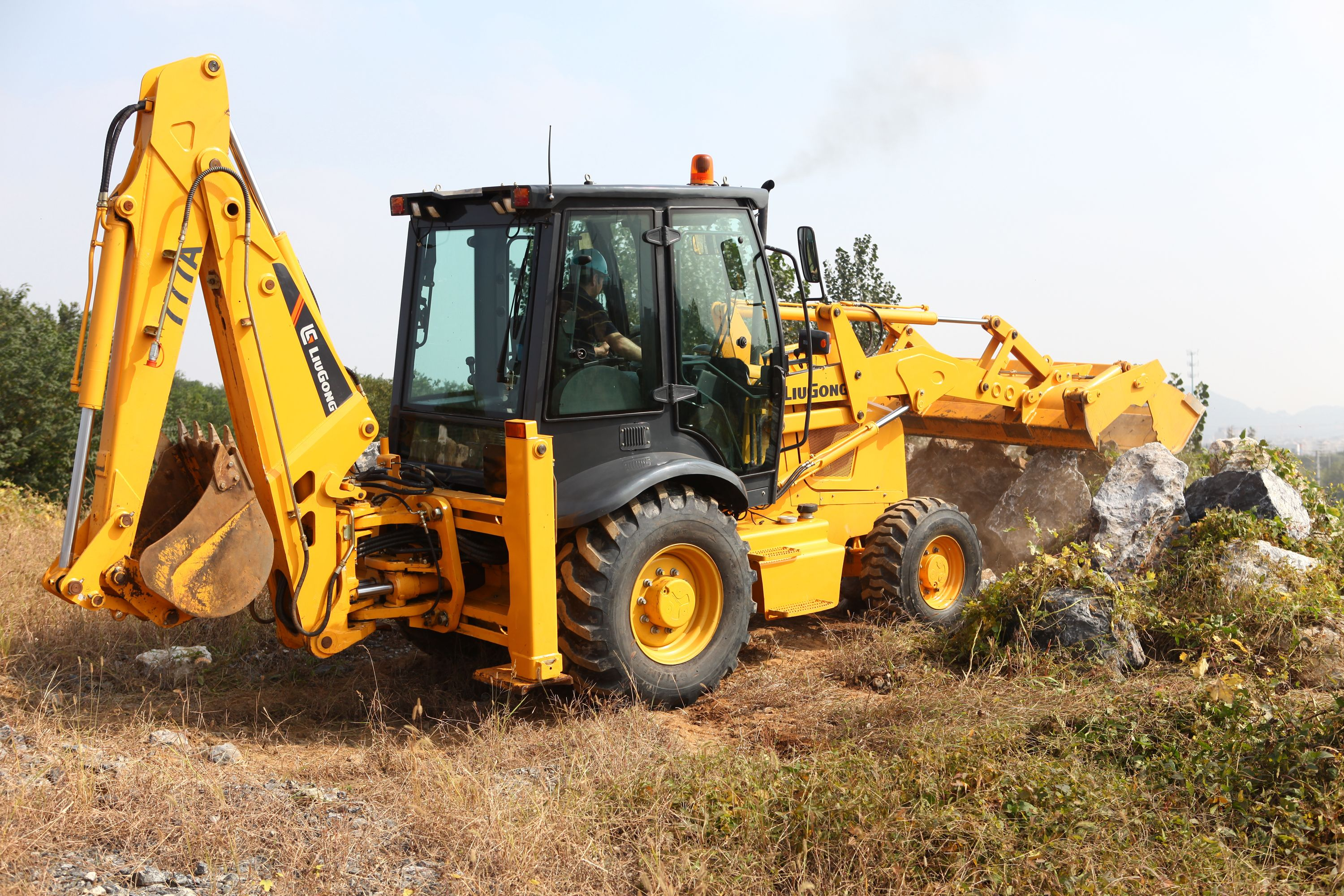 Backhoe loader - Liugong | digger loader hire | Backhoe ...