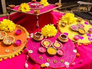 Mehndi Plates Images : Hand made mehndi plates totally unique in vibrant and traditional
