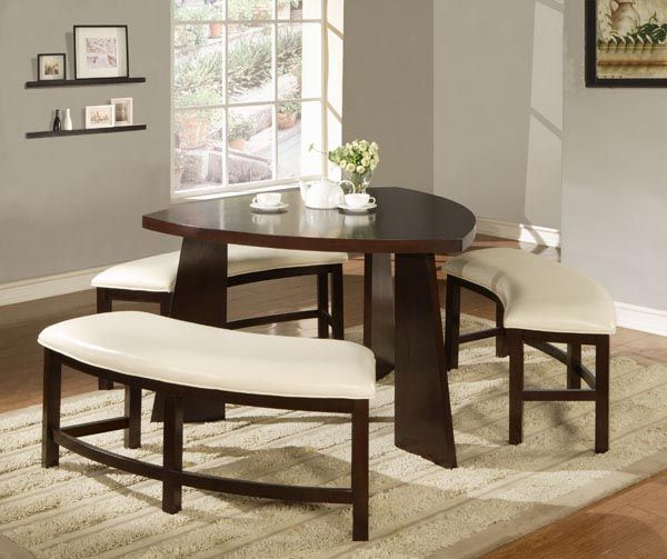 21 Corner Dining Sets Designs Decorating Ideas: Futuristic Dining Sets With Benches For Bigger
