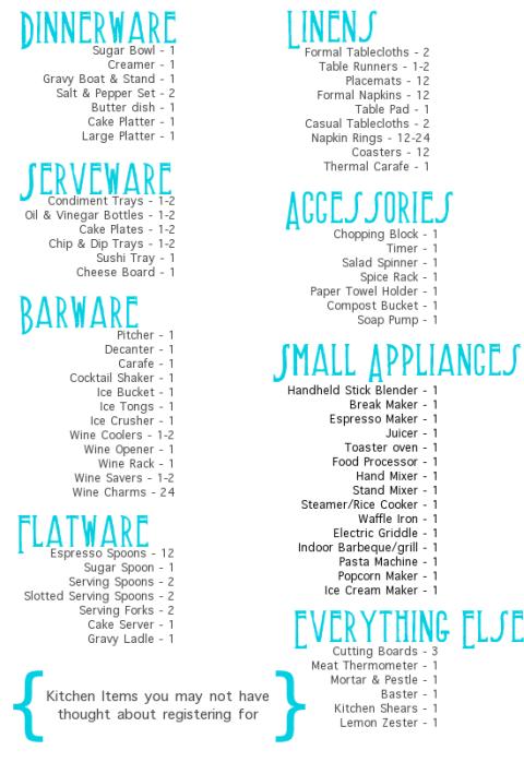 Wedding Registry Ideas « Wedding Trends 2014, Wedding