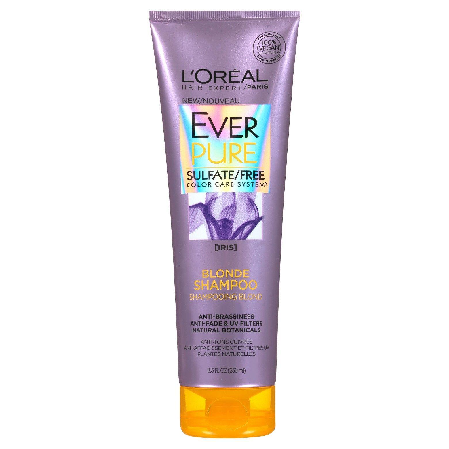L Oreal Paris Everpure Sulfate Free Blonde Shampoo 8 5 Fl Oz Best Purple Shampoo Purple Shampoo And Conditioner Shampoo Free