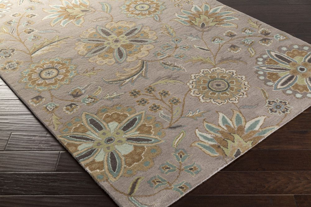 Athena Area Rug | Blue Floral and Paisley Rugs Hand Tufted | Style ATH5127