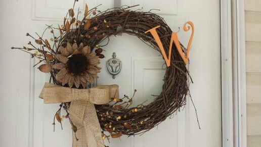 My Diy Fall Wreath All Materials Came From Hobby Lobby Cost About 10 Diy Fall Wreath Diy Fall Fall Wreath