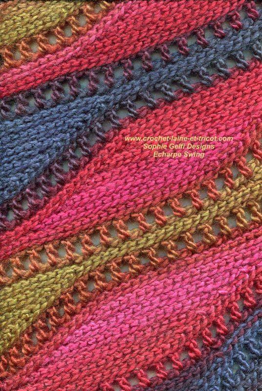 Nouveauté et exemple d'utilisation – Sophie Gelfi créations textiles   – Stricken – Örgü