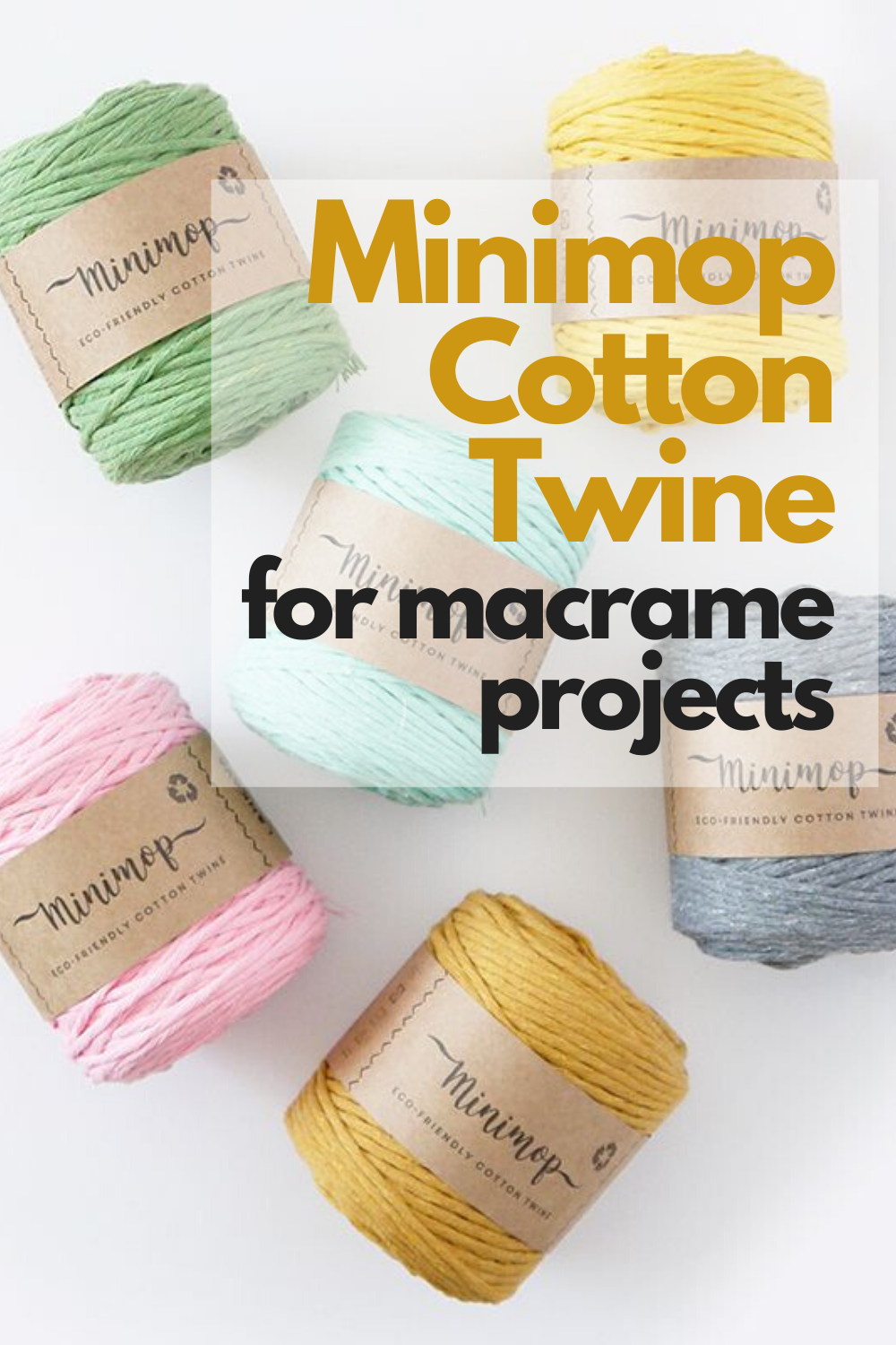 Lankava Minimop Cotton Twine 150g for DIY macrame projects from our online yarn shop TitiTyy: www.titityy.fi #cottontwine #macrame #yarn #titityy