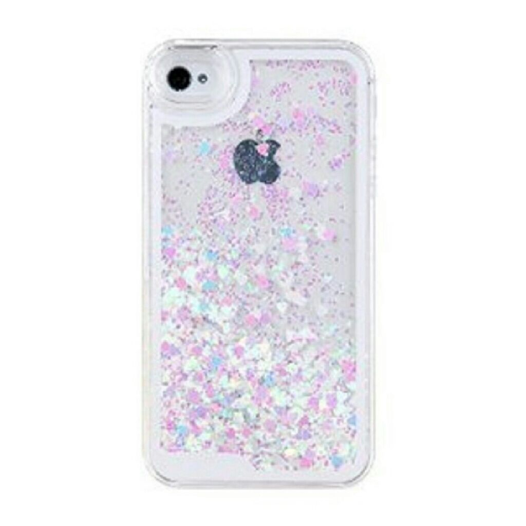 Waterfall Glitter Hearts Iphone Case  f7cac119768d