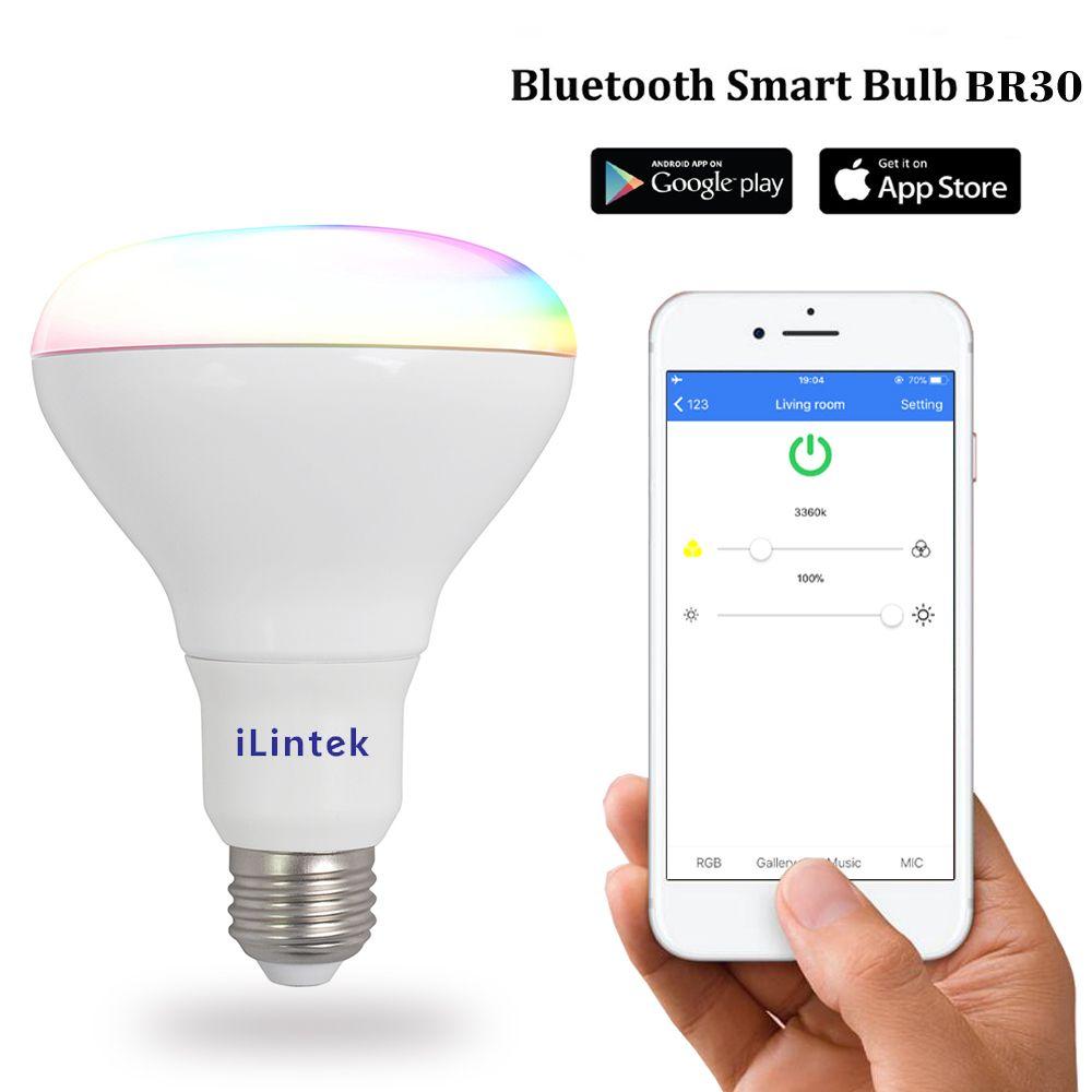 13w Ble Mesh Multicolor Full Function Dimmable Br30 E26 Led Smart Bulb Led Light Bulb