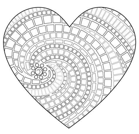 Mosaico en forma de corazón Dibujo para colorear | imagenes para ...