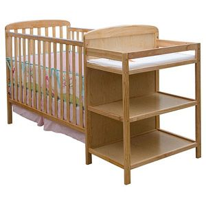 Dream On Me Anna 4 In 1 Convertible Crib And Changer Natural Walmart Com Crib And Changing Table Combo Baby Bed Cribs