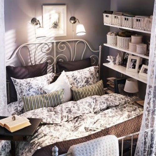 Ikea Leirvik Bed Frame White Queen Size Iron Metal Country Style Home Updates