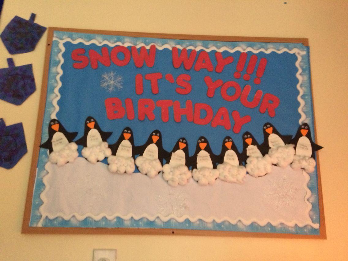 December birthday board Birthday board classroom, Winter