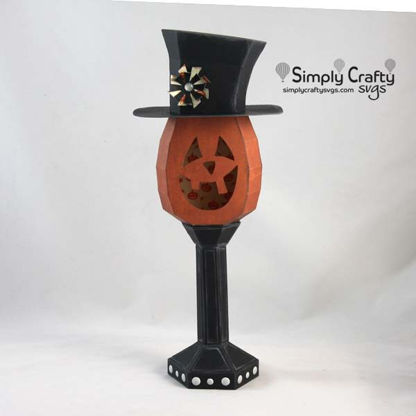 Smiling JackOLantern Halloween paper crafts, Crafty