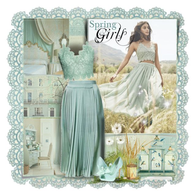 """""""Spring Girl"""" by gigi ❤ liked on Polyvore featuring Kaisercraft, H&M and rsvp"""